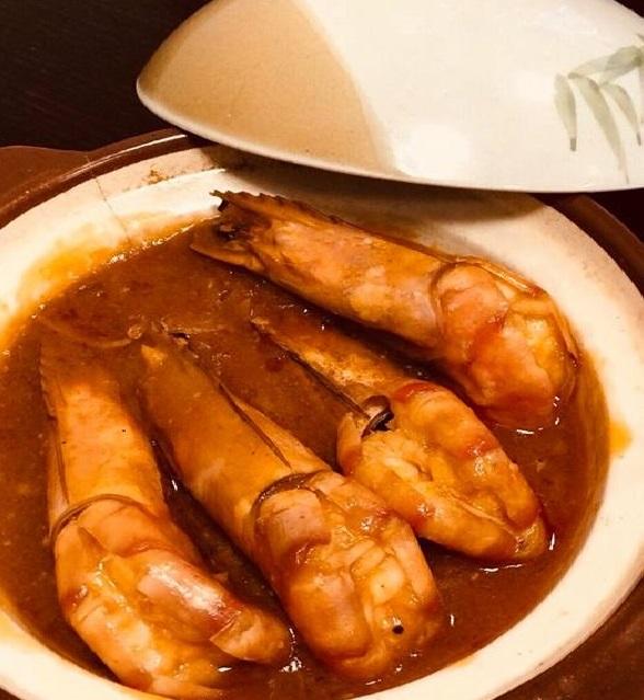 Gambas au caramel / Caramel Shrimps